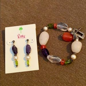 Lilly Pulitzer Bracelet and Earring set
